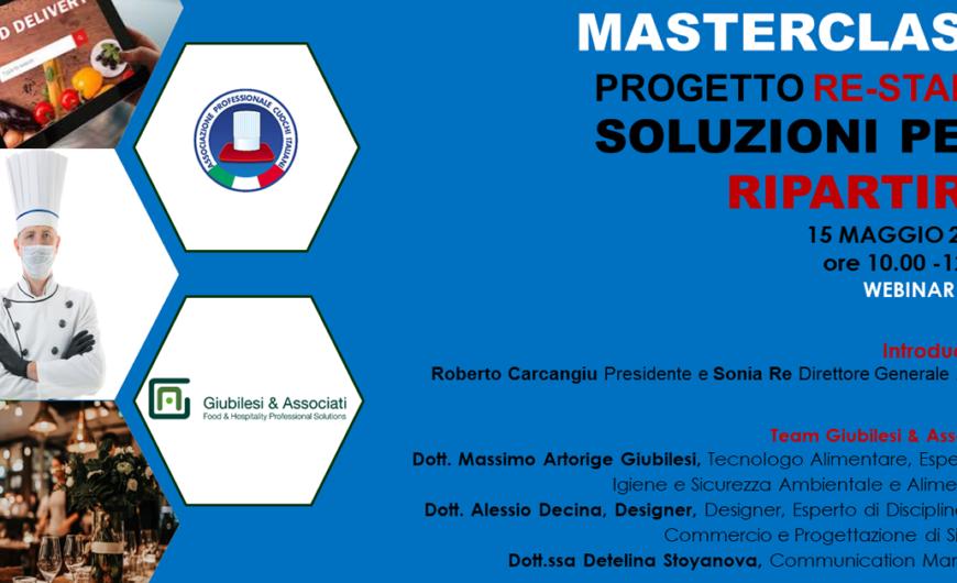 PROGETTO RE – START: SOLUZIONI PER RIPARTIRE. MASTERCLASS CON APCI